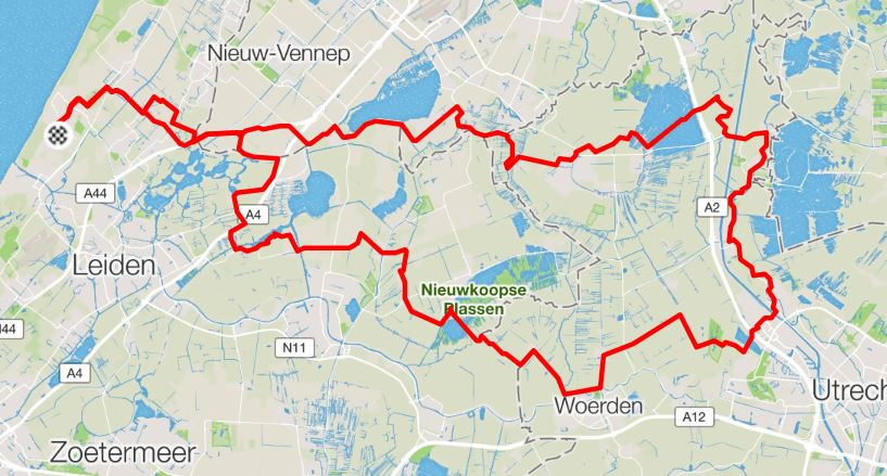 Maandtocht 3 September 2016 Route