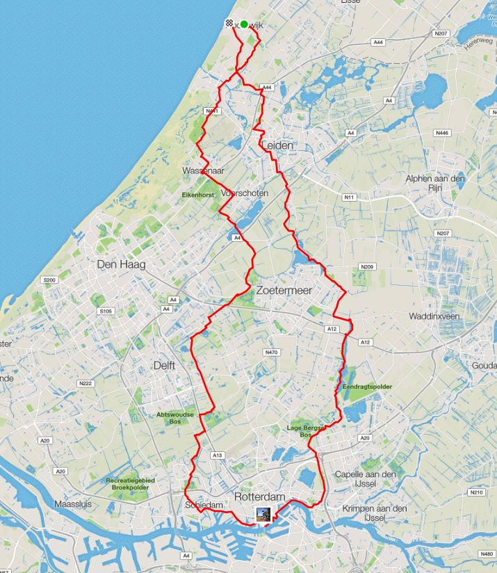 Maandtocht Sep 2016 Thaientocht route